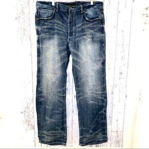 Sean Jean Mens Boot Cut Jeans 38 X 33 dark wash
